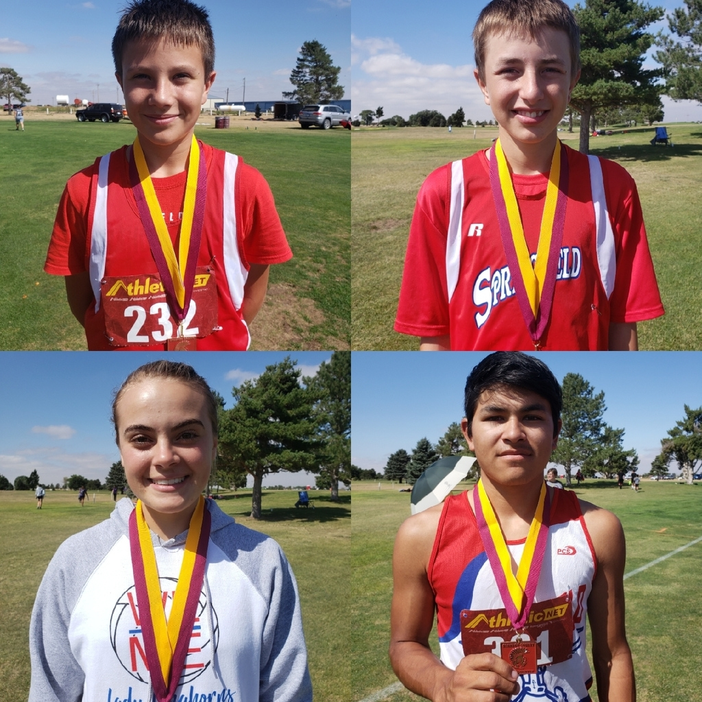 Congratulations to the cross country runners for the efforts in Johnson today. Colin Swanson -15th, Mylo Lovejoy - 4th, Benisa Ellis - 13th and Enrique Rodgers - 18th. Enrique also broke the school record.