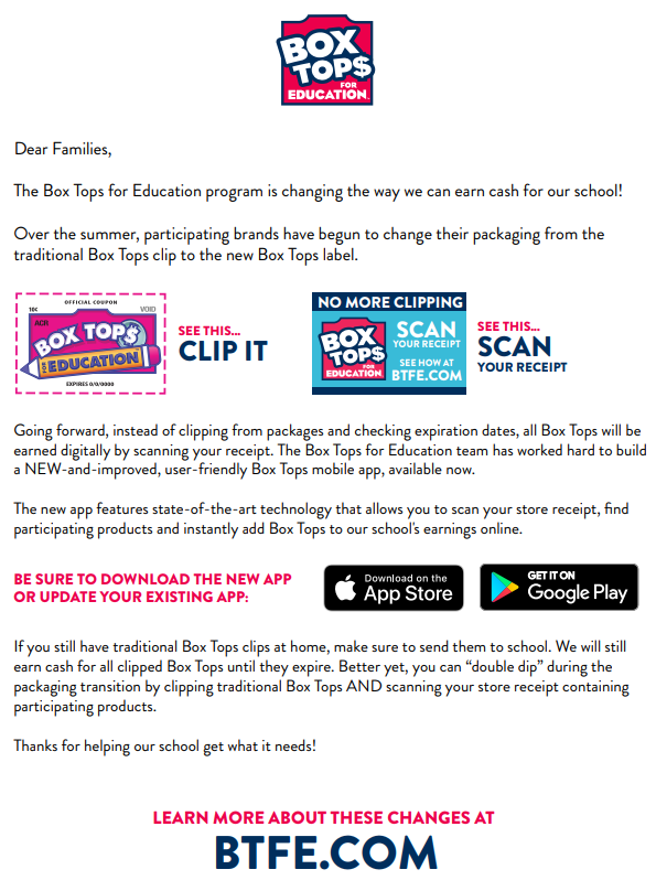 Boxtops For Education Flyer Image